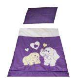 Set lenjerie de pat 2 piese pentru bebelusi Ty i My Elephant LPTME2-M, Multicolor