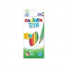 Creioane colorate 12 culori flexibile Carioca Tita SKR087