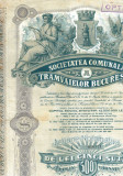 Actiune Societatea Comunala a Tramvaielor Bucuresti, interbelica