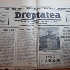 ziarul dreptatea 20 martie 1990-art. george calinescu si iuliu maniu