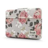 Cumpara ieftin Husa Upzz Tech Briefcase Canvaslife Sleeve Compatibila Cu Laptop / Macbook 15-16 Inch White Rose