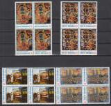 ROMANIA 1985 LP 1131 REPRODUCERI DE ARTA ION TUCULESCU BLOCURI DE 4 MNH, Nestampilat