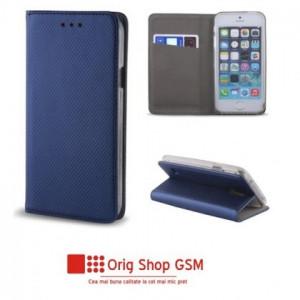 Husa Flip Carte Smart Samsung A750 Galaxy A7 2018 Blue