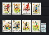 Timbre Africa, Rwanda, 1982   Campionatul Mondial de Fotbal Spania 82   MNH, Sport, Nestampilat