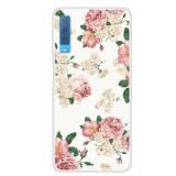 Cumpara ieftin Carcasa Husa Samsung Galaxy A7 2018 Model Blooming Roses, Antisoc + Folie sticla securizata Samsung Galaxy A7 2018 Tempered Glass Viceversa