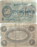 1870 , 50 centesimi - Toscana ( Statele Italiene )