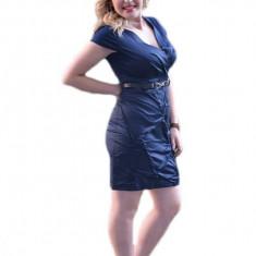Rochie feminina,cu design rafinat, culoare bleumarin