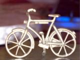 Miniatura bicicleta din argint
