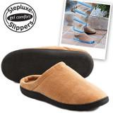 Papuci de casa cu Gel Slippers si talpa Relax Gel antioboseala, As Seen On TV