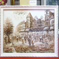 Tablou pictat manual pe panza in ulei A-448, Natura, Realism