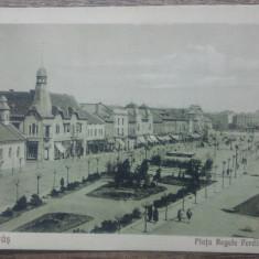 Targu Mures, Piata Regele Ferdinand// CP, Circulata, Fotografie