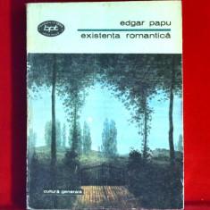 Existenta romantica de edgar papu bpt