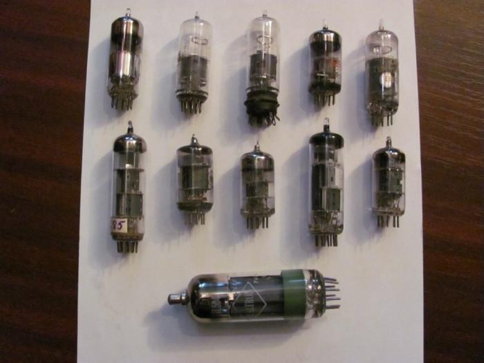 GE- Lot 11 lampi tuburi pentru radio sau televizor / neprobate (nu ma pricep)
