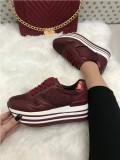 Adidasi dama rosii cu platforma marime  38, 39, 40, 41+CADOU
