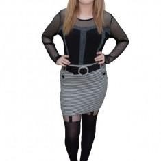 Fusta moderna, disponibila in nuante de alb-negru, gri, mov