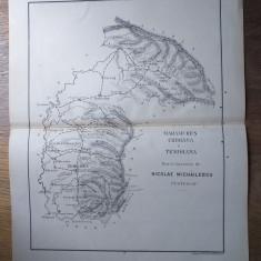 MARAMURES,CRISANA SI TEMISANA  // HARTA CROMOLITOGRAFIATA, 1904