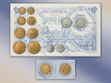 ROMANIA 2007 Sistemul Monetar Romanesc Modern serie cu vinieta + colita  MNH**