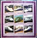 GUINEA-BISSAU 2001 - LOCOMOTIVE TGV. BLOC MNH, DG10