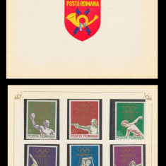 1972 Romania, J.O. de Vara Munchen LP 797, carnet filatelic de prezentare