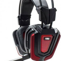 Casti Gaming cu Microfon White Shark GH-1843 PUMA, USB + 2 x jack 3.5 mm, 32 ohm (Negru/Rosu)