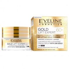 Crema luxurianta de intinerire Eveline Cosmetics Gold Lift Expert cu aur de 24K 60+ 50 ML