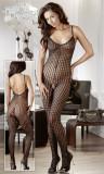 Catsuit Sexy Tip Plasa Decupat Intim, Negru, M/L