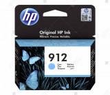 Cartus HP 912 Cyan pentru Imprimanta HP OfficeJet Pro 8023 All-in-One