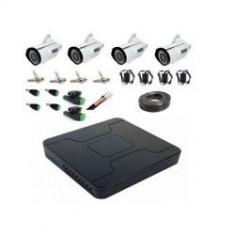 Kit sistem complet XVR 1080N cu 4 camere supraveghere exterior full hd 40 m IR lentila varifocala