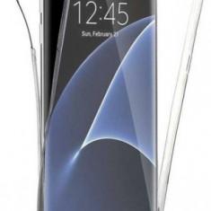 Protectie Spate Senno Pure Flex Slim 360 SNNM-360-FULL-TPU-SAS6E-CL pentru Samsung S6 Edge + Protectie Fata (Transparent)