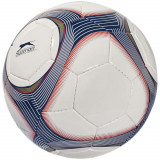 Minge de fotbal, marime 5, 32 paneluri, 3 layere, Slazenger by AleXer, PI01, poliuretan, alb, albastru, breloc inclus