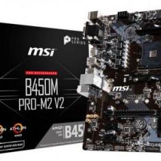 Placa de baza MSI B450M PRO-M2 V2, AMDB450, AM4, DDR4, mATX, Pentru AMD