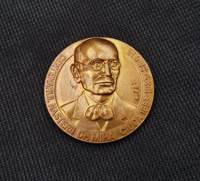 Medalie Medicina Romania - Dr. Mihai Ciuca - Saveni - 1983 foto