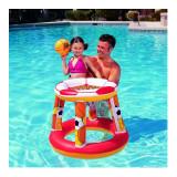Set plutitor Basketball Bestway, 61 cm, Rosu