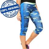 Pantaloni Reebok Workout Ready Printed Capri 3/4 pentru femei - originali