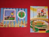 GUINEA ECUATORIALA, FOTBAL - 2 COLIȚE ȘTAMPILATE, Stampilat