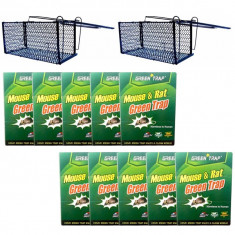 10 x Capcana cu lipici pe carton pentru soareci + 2 x Cursa sobolani mare