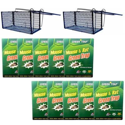 10 x Capcana cu lipici pe carton pentru soareci + 2 x Cursa sobolani mare foto