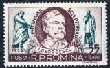 1956 LP412 serie Centenarul nasterii sculptorului I Georgescu MNH