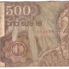 Romania 1991 ianuarie - 500 lei, uzata