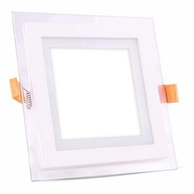 Aplice LED patrata incorporabila, 18 W, temperatura culoare alb neutru, sticla foto