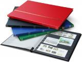 Clasor timbre cu 8 file / 16 pagini negre, fara logo, verde