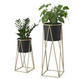 [en.casa] Suport plante Mara 2 bucati marimi diferite, metal/ galben auriu HausGarden Leisure, [en.casa]