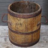Cumpara ieftin BANITA - MASURA PENTRU CEREALE 10 LITRI - FACUTA MANUAL DIN LEMN, ANII 1800
