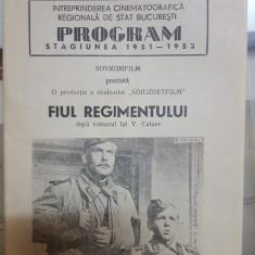 Pliant, Program Stagiunea 1951-1952, Savrofilm prezintă, Fiul regimentului