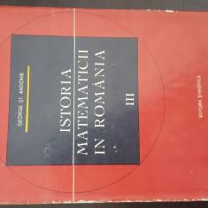 Istoria Matematicii in Romania vol. 3. An. 1967