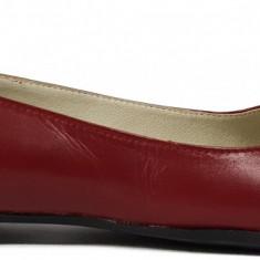 Balerini de dama din piele rosii Ninna Art 146