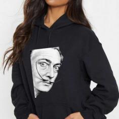 Hanorac dama negru - Dali - Portret, L, M, S, XL