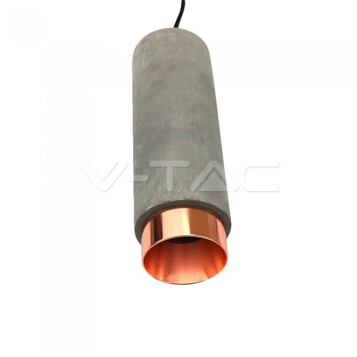 Fitting din Gips & Ciment Suspendat pentru GU10 detaliu metalic auriu-roz mat V-Tac SKU-3130