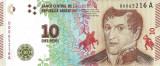ARGENTINA █ bancnota █ 10 Pesos █ 2016 █ P-360 █ UNC █ necirculata