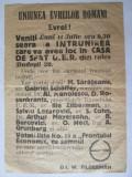 Cumpara ieftin Rara! Invitatie fluturas la intrunirea partidului Uniunea Evreilor Romani anii30